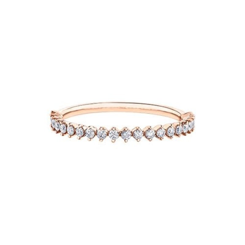 14K Rose Gold Diamond (0.25ct) Stackable Ring
