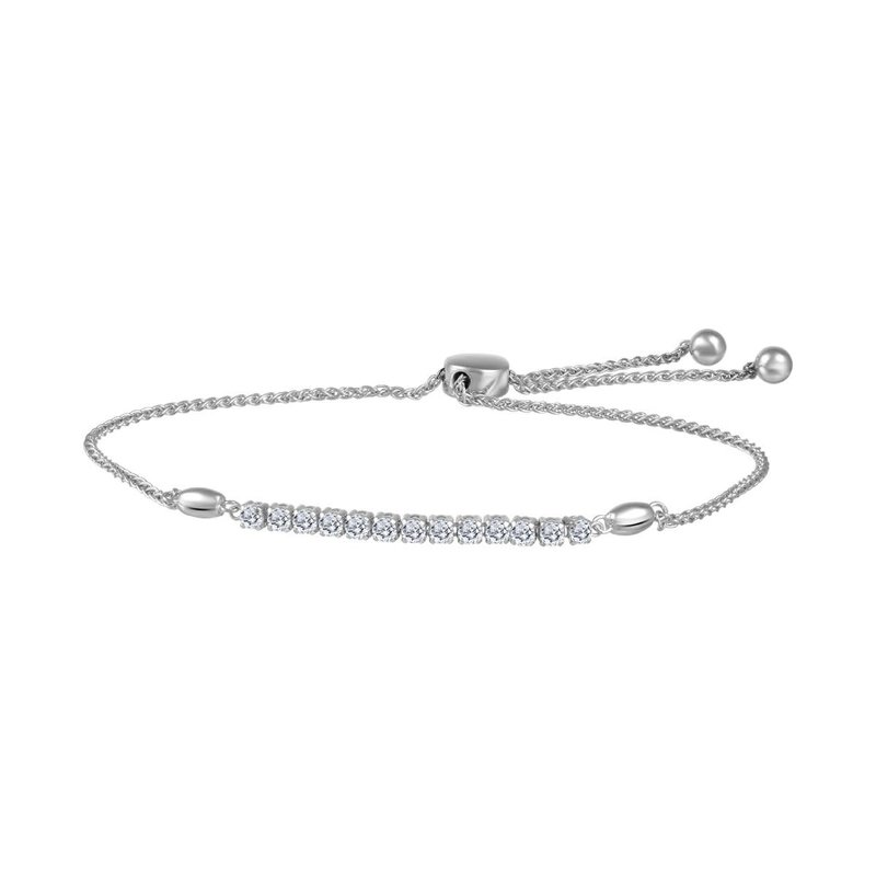 10K White Gold (0.33ct)  Bolo Diamond Bracelet