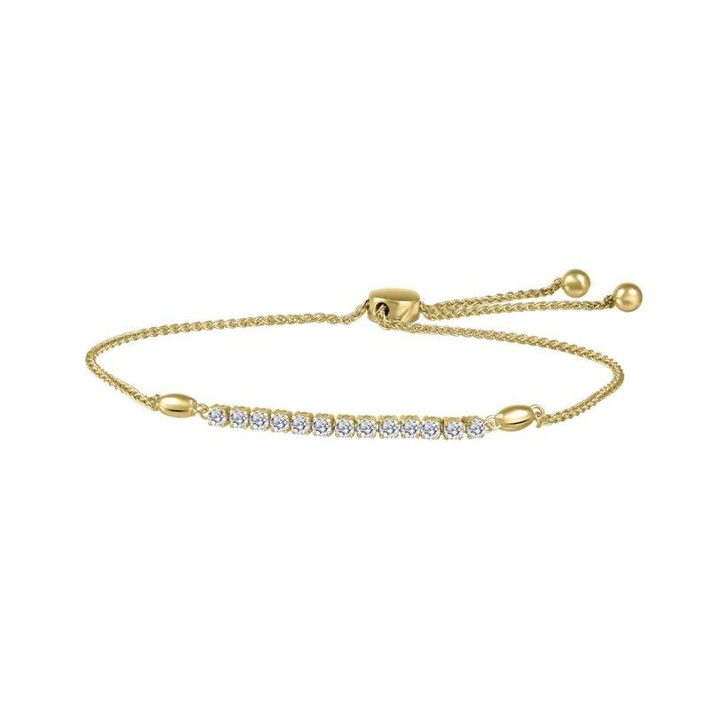 10K Yellow Gold (0.33ct) Bolo Diamond Bracelet