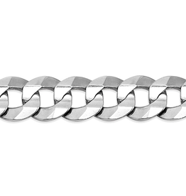 Sterling Silver (13.8mm) Curb Bracelet 8.5""