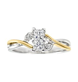 14K/18K White and Yellow Gold Perfect Together (0.45ct) Canadian Diamond Ring