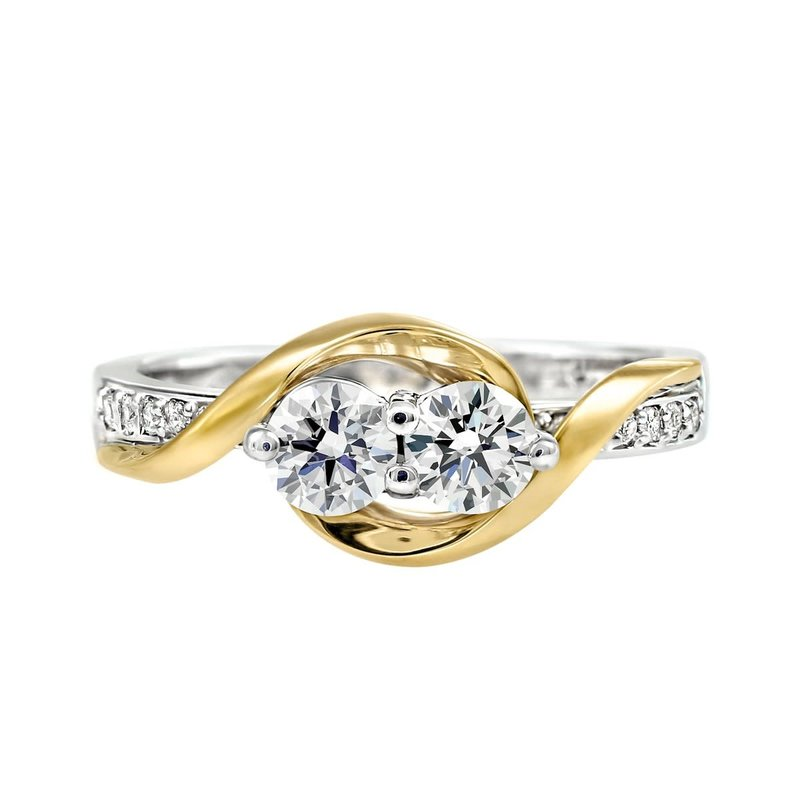 14K/18K White and Yellow Gold Perfect Together (0.58ct) Canadian Diamond Ring