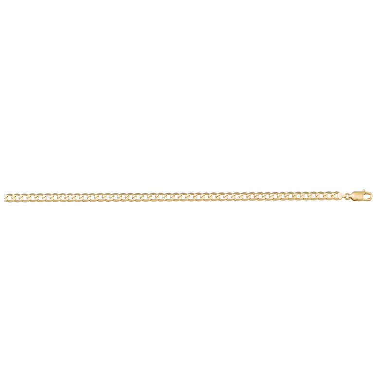 10K Yellow Gold (2.4mm) Curb Chains (16-24in)