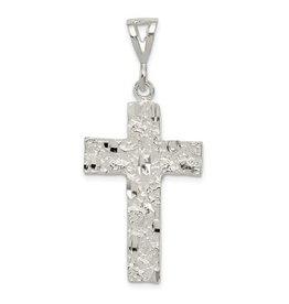 Sterling Silver Nugget Cross Pendant