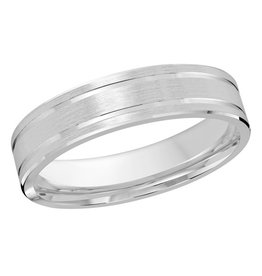 Malo 10K White Gold (5mm) Satin Finished Band