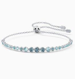 Swarovski Swarovski Emily Gradient Bracelet, Blue, Rhodium Plated