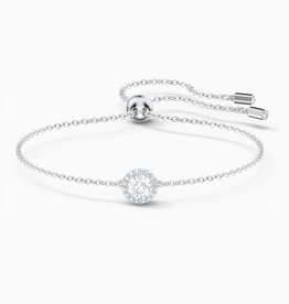 Swarovski Swarovski Angelic Round Bracelet, White, Rhodium Plated
