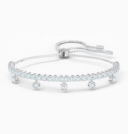 Swarovski Swarovki Subtle Drops Bracelet, White, Rhodium Plated