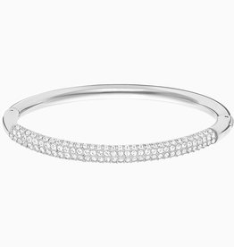 Swarovski Swarovski Stone Bangle, White, Stainless Steel