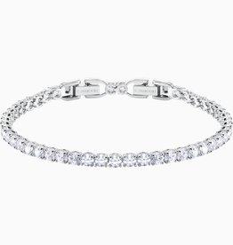 Swarovski Swarovski Tennis Deluxe Bracelet, White, Rhodium Plated