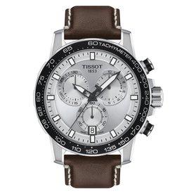 Tissot Tissot Supersport Chrono Men's Silver Tone Brown Leather Strap Watch