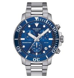 Tissot Tissot Seastar 1000 Chronograph Men's Silver Tone Blue Dial Watch
