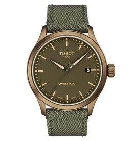 Tissot Tissot Gent XL Swissmatic Men's Khaki Tone Green Fabric Strap Watch