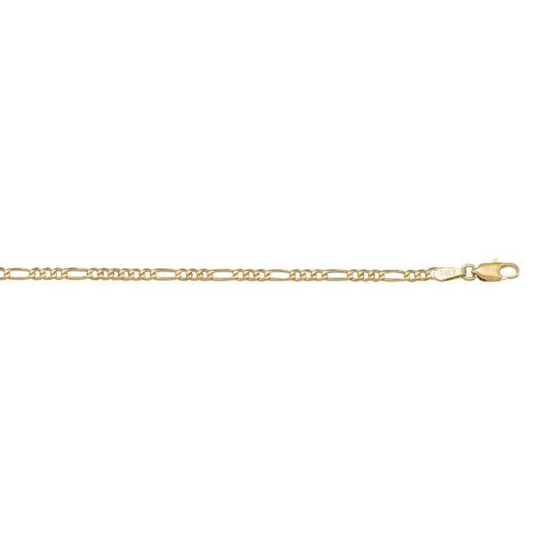 """10K Yellow Gold (2.4mm) Figaro Chain (16"""" - 24"""")"""