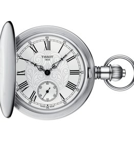 Tissot Tissot Savonnette Mechanical Silver Tone Pocket Watch