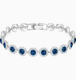 Swarovski Swarovski Angelic Bracelet, Blue, Rhodium Plated