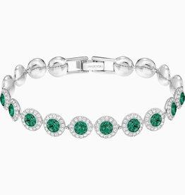 Swarovski Swarovski Angelic Bracelet, Green, Rhodium Plated