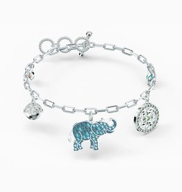 Swarovski Swarovski Symbolic Elephant Bracelet, Light Multi-Colored, Rhodium Plated