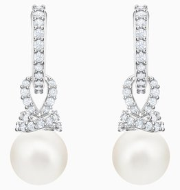 Swarovski Swarovski Originally Pearl Dangle Earrings, White, Rhodium Plated