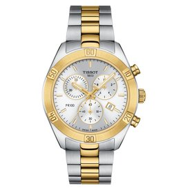 Tissot Tissot PR 100 Sport Chic Chronograph Ladies Two Tone Watch