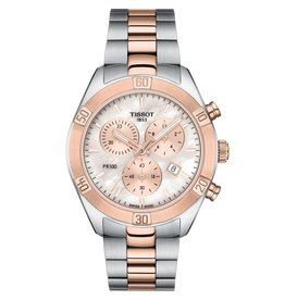 Tissot Tissot PR 100 Sport Chic Chronograph Ladies Two Tone Mother of Pearl Dial Watch