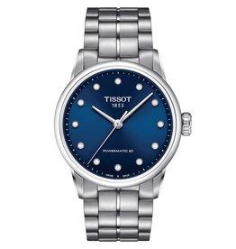 Tissot Tissot Luxury Lady Powermatic 80 Silver Tone Blue and Diamond Dial Watch
