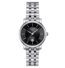 Tissot Tissot Carson Premium Automatic Lady Silver Tone Black Dial Watch