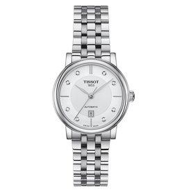 Tissot Tissot Carson Premium Automatic Lady Silver Tone Diamond Dial Watch