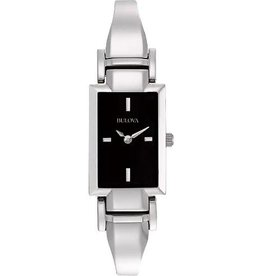 Bulova Bulova Classic Ladies Silver Tone Black Dial Watch
