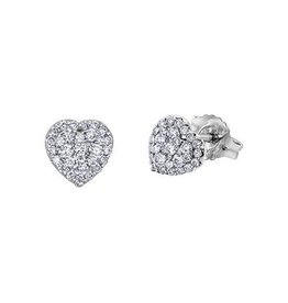 14K White Gold Cluster (0.33ct) Diamond Stud Earrings