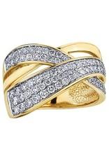 10K Yellow Gold (1.00ct) Diamond Right Hand Ring