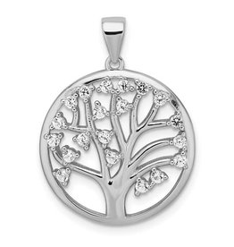 Quality Gold Sterling Silver Rhodium Plated Tree of Life Pendant