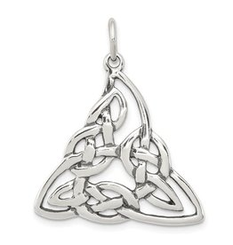 Sterling Silver Rhodium Plated Celtic Pendant