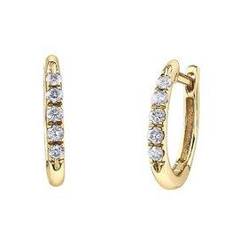 10K Yellow Gold (0.15ct) Diamond Hoop Earrings