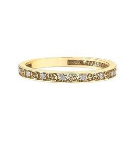 10K Yellow Gold Zodiac (Cancer) Diamond Ring