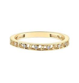 10K Yellow Gold Zodiac (Capricorn) Diamond Ring