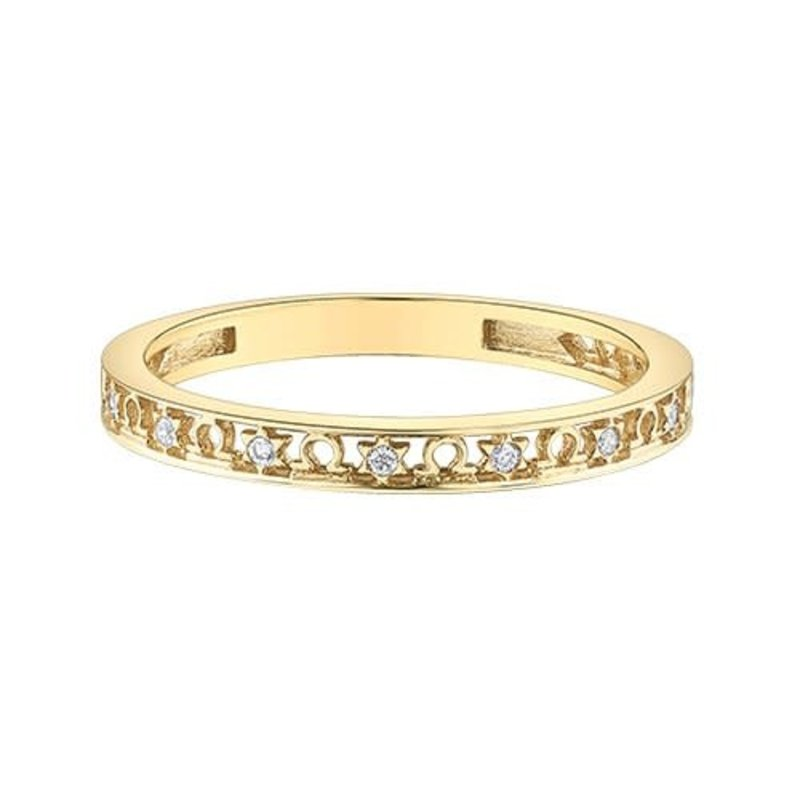 10K Yellow Gold Zodiac (Libra) Diamond Ring