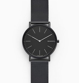 Skagen Skagen Signatur Men's Black Tone Black Mesh Strap Watch
