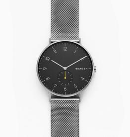 Skagen Skagen Aaren Men's Gray Tone Gray Mesh Strap Watch
