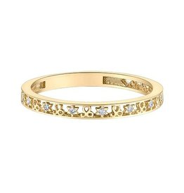 10K Yellow Gold Zodiac (Leo) Diamond Ring