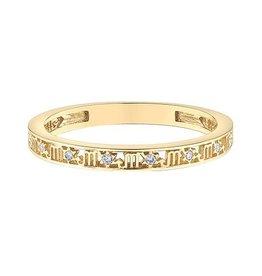 10K Yellow Gold Zodiac (Scorpio) Diamond Ring
