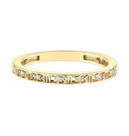 10K Yellow Gold Zodiac (Virgo) Diamond Ring