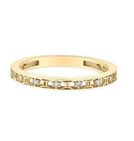 10K Yellow Gold Zodiac (Gemini) Diamond Ring