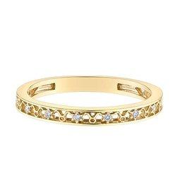 10K Yellow Gold Zodiac (Taurus) Diamond Ring