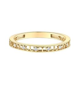 10K Yellow Gold Zodiac (Aries) Diamond Ring