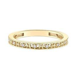 10K Yellow Gold Zodiac (Pisces) Diamond Ring