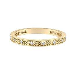 10K Yellow Gold Zodiac (Aquarius) Diamond Ring