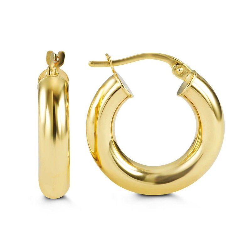 10K Yellow Gold 18mm Hoop Earrings