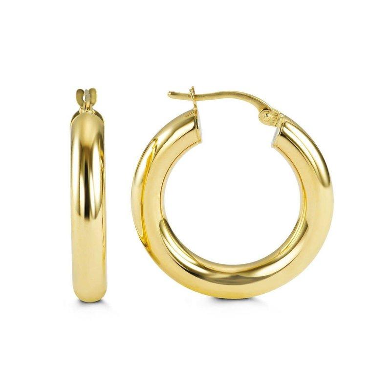 10K Yellow Gold 24mm Hoop Earrings