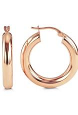10K Rose Gold 24mm Hoop Earrings